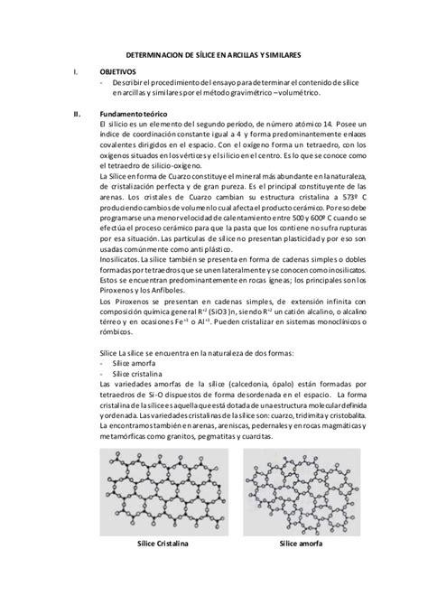 Designmantic Similares   determinacion de s 237 lice en arcillas y similares