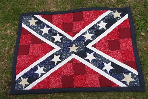 Confederate Flag Quilt by Rebel Flag Quilt Or Block