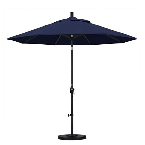Half Umbrella For Patio Blue The Wall Brella 9 Ft Patio Half Umbrella In Olefin Otwb 9on The