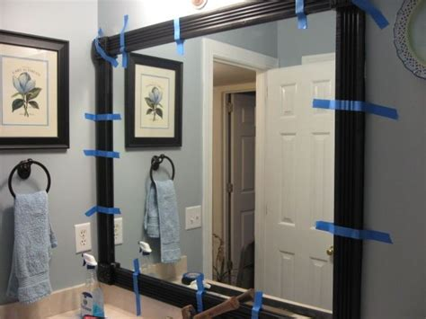 framing your bathroom mirror inspiration for projects