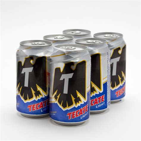 18 pack tecate light tecate light beer 12oz can 6 pack beer wine and
