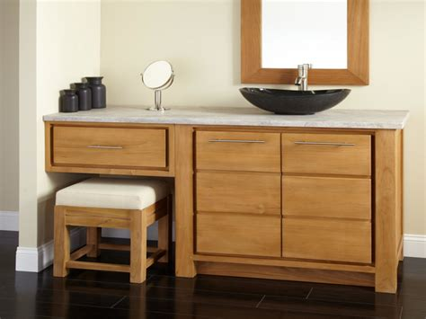 bathroom vanities with makeup area vessel sink vanity