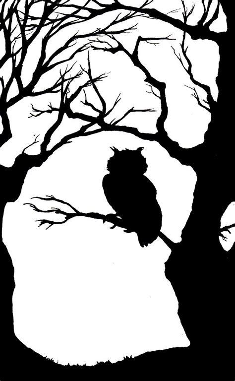 white silhouette owl silhouette pinteres