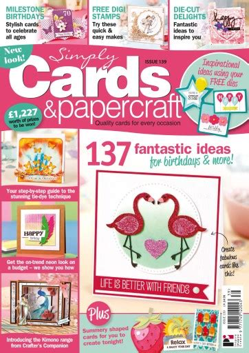 Simply Cards And Papercraft Magazine - simply cards papercraft magazine 139 subscriptions