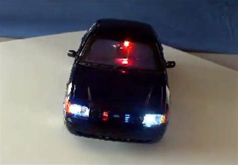 police car toy diecast police led lights and siren modify your own model