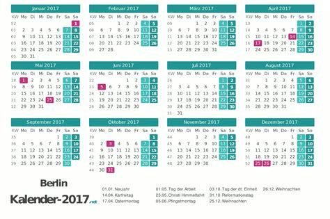 Kalender Mit Feiertagen 2018 Kalender 2017 Berlin