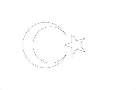 coloring page of turkey flag turkey flag coloring page reiseziele pinterest