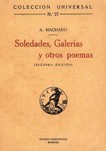 libro soledades galerias otros poemas soledades galer 237 as y otros poemas