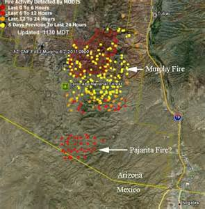 fires in arizona map where are the fires in arizona map