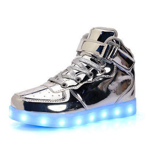 gold energy lights skechers silver skechers energy led boys sneaker light
