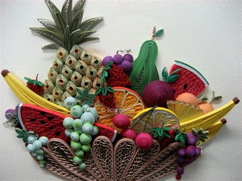 paper quilling basket tutorial quilled bowl of fruit quilling pinterest quilling