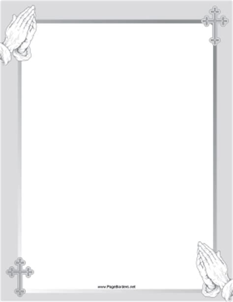 gray prayer border