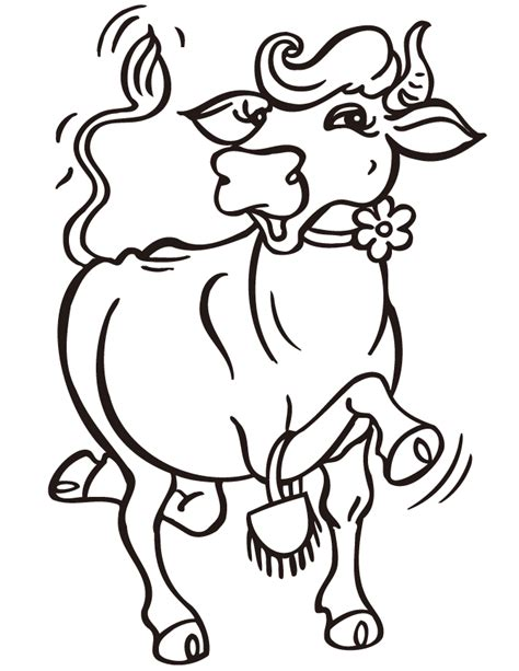 dancing cow coloring page hm coloring pages
