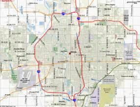wichita map map of kansas wichita