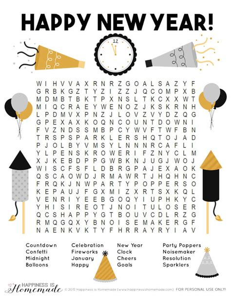 new year puzzles worksheets 10 new year s activities for happiness is