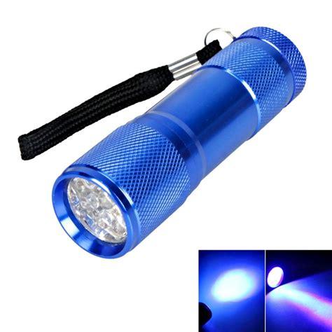 blue light led flashlight 9 led 385 400nm purple light mini flashlight torch blue