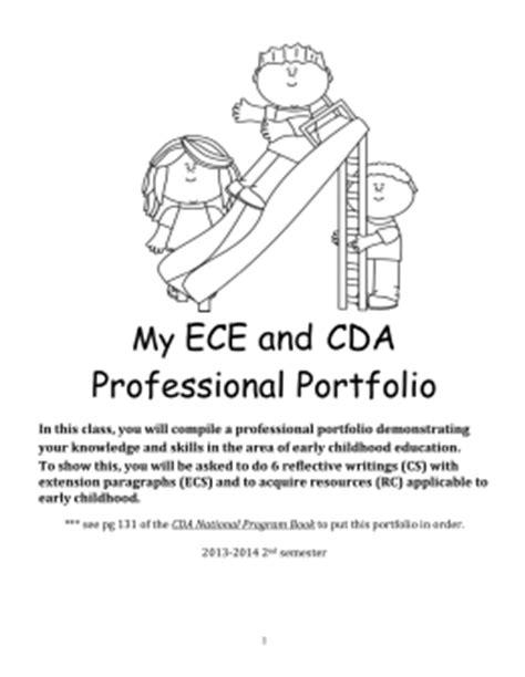 My Ece And Cda Professional Portfolio Cda Portfolio Template