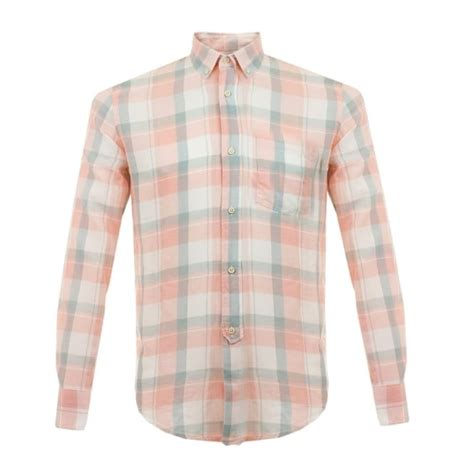 Wst 16644 White Back Buttoned Shirt our legacy uk 1940 s button pink check shirt