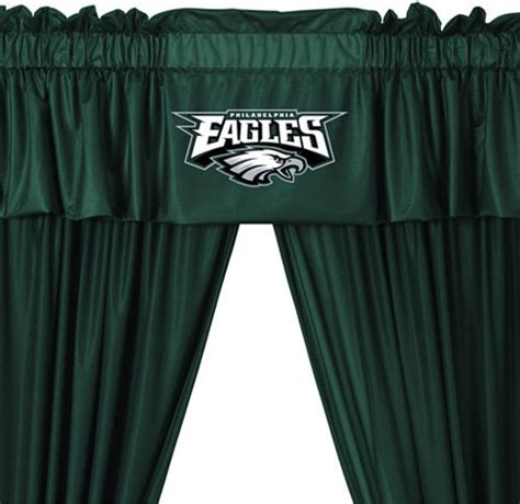 Dallas Cowboys Home Decor by Nfl Philadelphia Eagles 5 Piece Long Jersey Drapes Valance