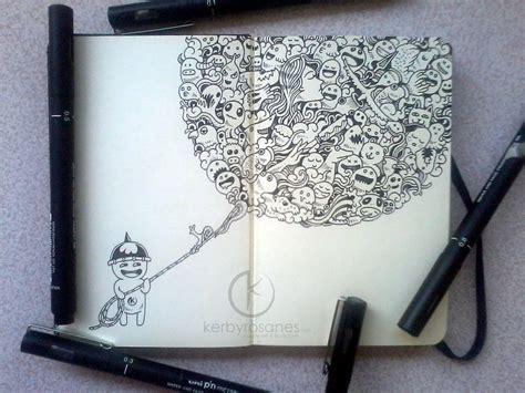 moleskine doodle ideas moleskine doodles doodle balloon by kerbyrosanes