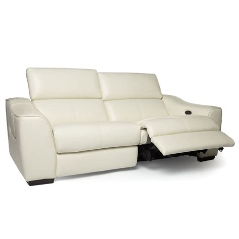white leather reclining sofa reclining sofa with power italian leather