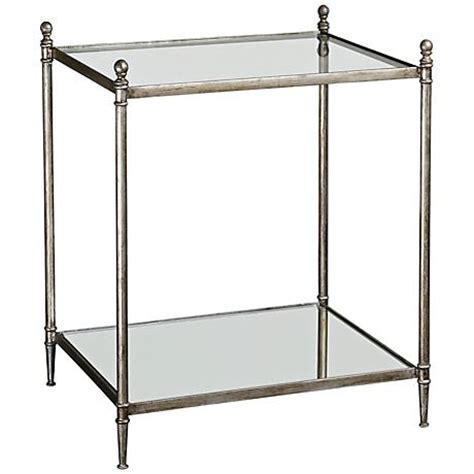 uttermost gannon mirrored glass end table 3f821 ls