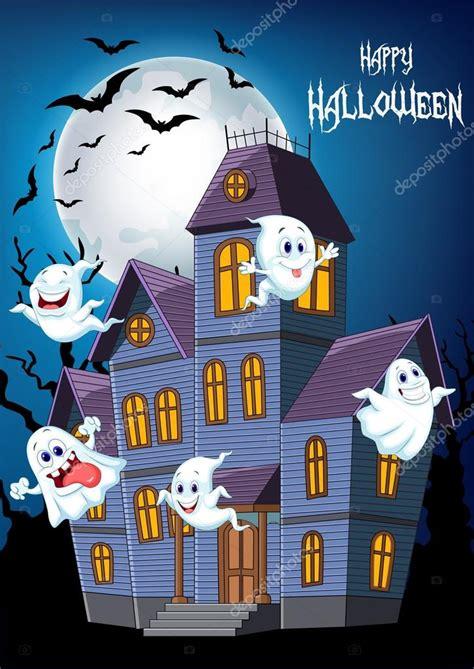 imagenes de halloween wikipedia dibujos animados scary halloween casa con fantasmas