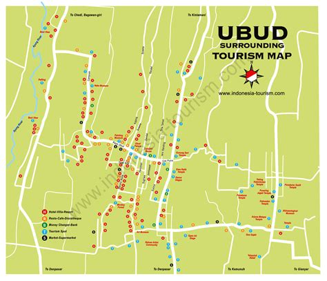 printable road map of bali ubud area bali map bali island indonesia tourism maps