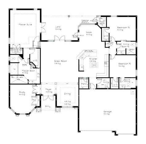 great room floor plans single story single story floor plan novic me