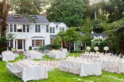 classy backyard wedding elegant backyard wedding ideas marceladick com