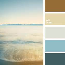 Brown and blue shades of the sea color palette ideas