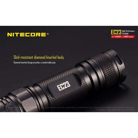 Nitecore Ec23 Senter Led Cree Xhp35 Hd E2 1800 Lumens Nitecore Ec23 Senter Led Cree Xhp35 Hd E2 1800 Lumens Black Jakartanotebook