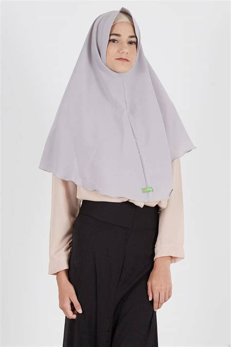 Cuci Gudang Glam Jilbab Instan sell jilbab instan fahma grey instant hijabenka