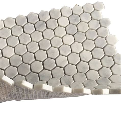 1 Inch Floor Tile White - tumbled 1 1 inch white carrara marble hexagon floor tile