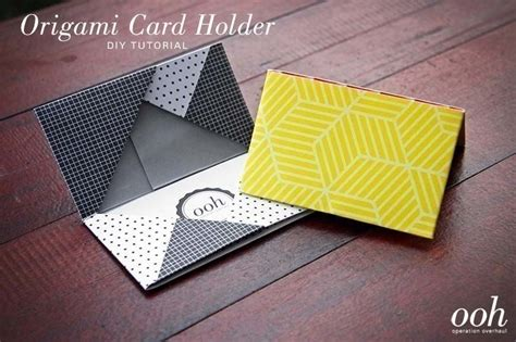 How To Make Wallets Out Of Paper - diy origami cardholder 183 how to make a paper wallet