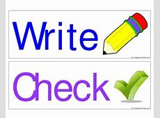 FREE Look, Say, Cover, Write, Check signs by Imaginative ... Language Arts Clip Art Images