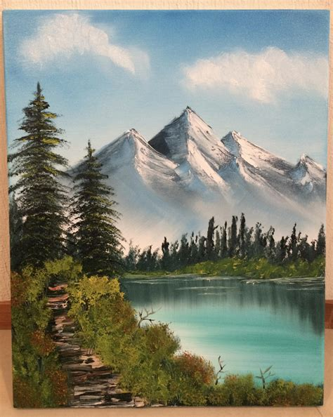 bob ross painting mountain ridge bob ross painting quot distant mountains