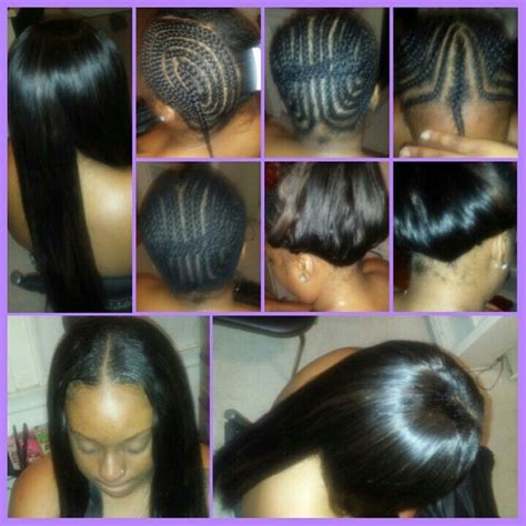 low maintenance sew in full sew in with little leave out effortless beauty