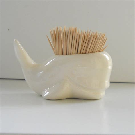 Tooth Pick Holders | whale toothpick holder in white perfect gift for whale lover