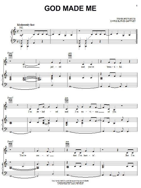 tutorial real drum dear god god made me sheet music direct