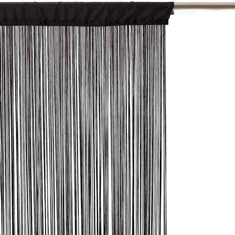 rideau fil 90x200cm noir