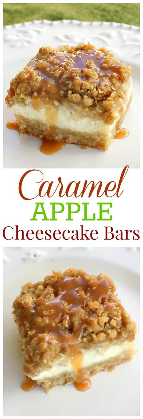 paula deen caramel apple cheesecake bars with streusel topping caramel apple cheesecake bars the girl who ate everything