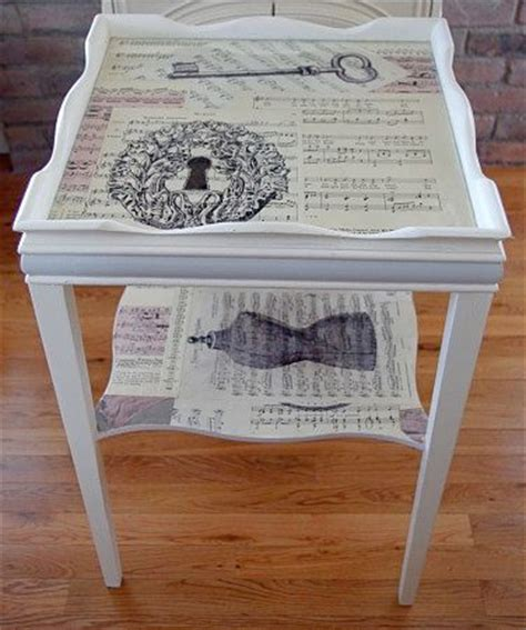Best Varnish For Decoupage Furniture - 25 best ideas about decoupage table on modge