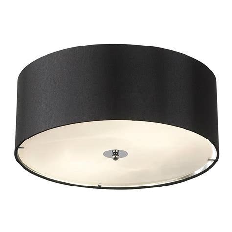 endon lighting franco franco 40bl black semi flush ceiling