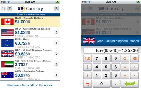 currency converter xe app xe currency iphone apps