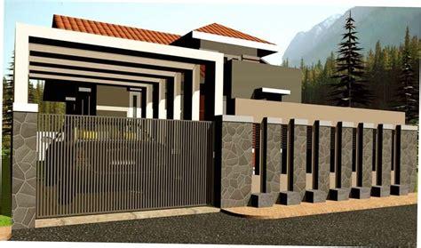 kumpulan pagar rumah minimalis  desain terbaru