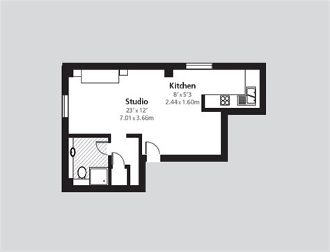 Efficiency Apartment Floor Plans by Cheval Calico House London Apartment Rental