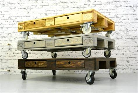 Standard Sofa by Build Pallet Coffee Table On Wheels