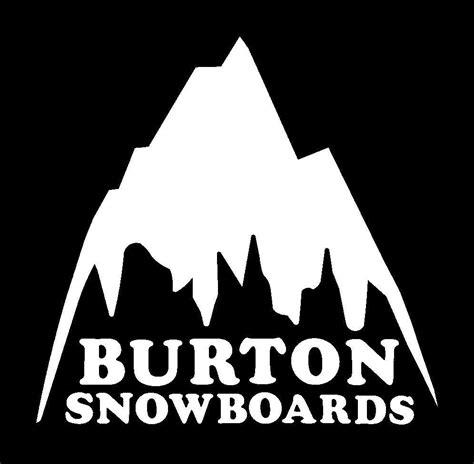New Home Gift by Burton Sticker Retro Mountain Logo Very Rare All Colors