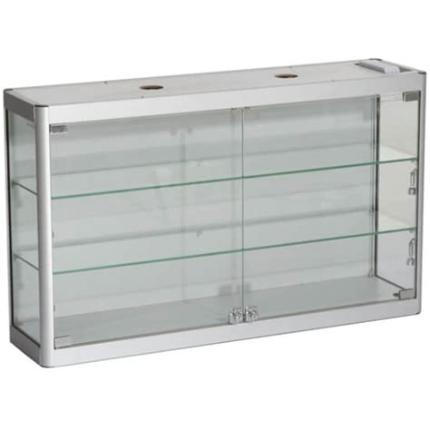 wall mounted glass display cabinet 1000mm w wall mount glass display cabinet led wm10 6